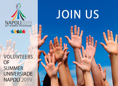 Naples 2019 are hoping to recruit 10,000 volunteers for the event ©Naples 2019