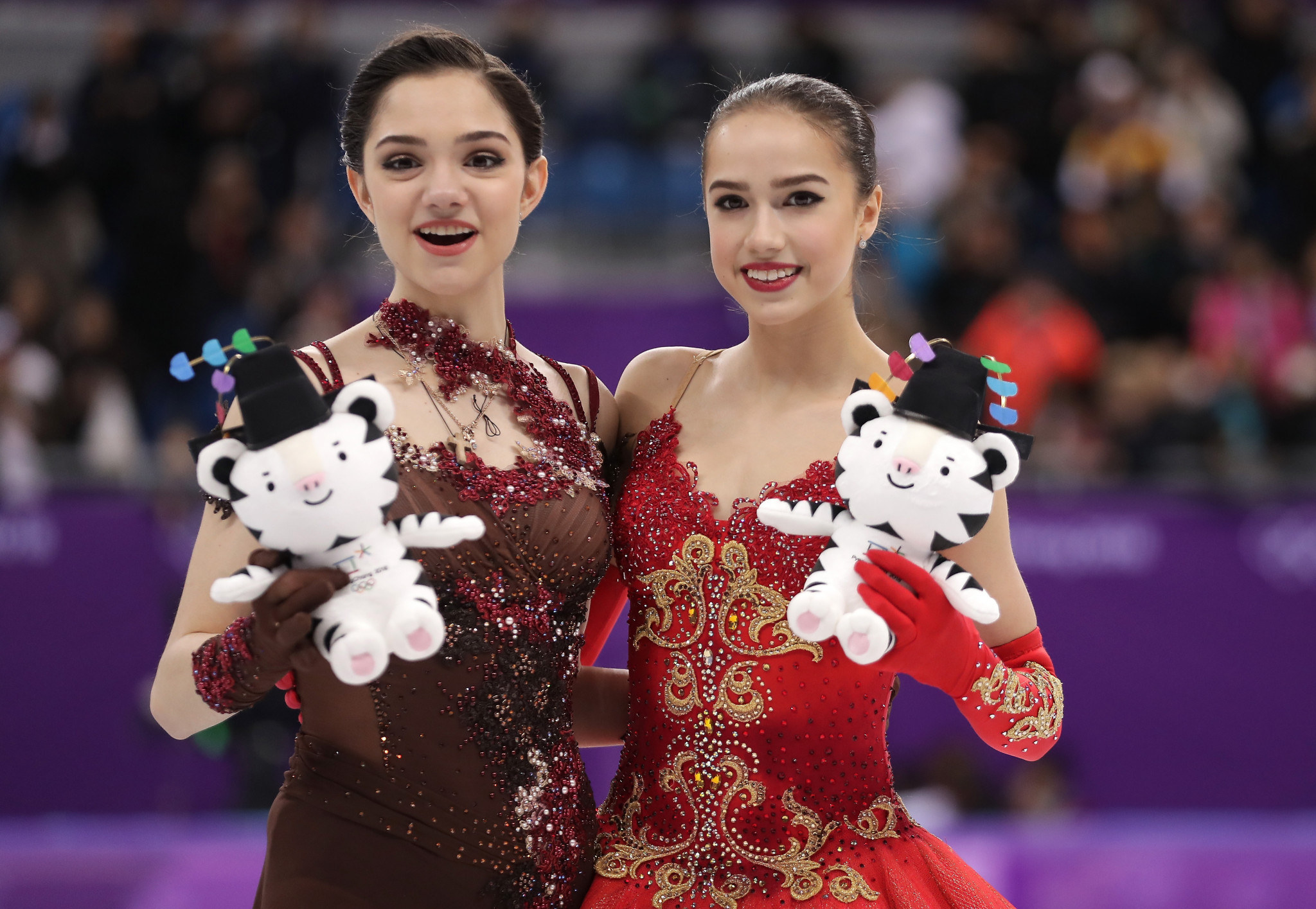 Evgenia Medvedeva, left, and Alina Zagitova, right, won silver and gold, respectively, at Pyeongchang 2018 ©Getty Images