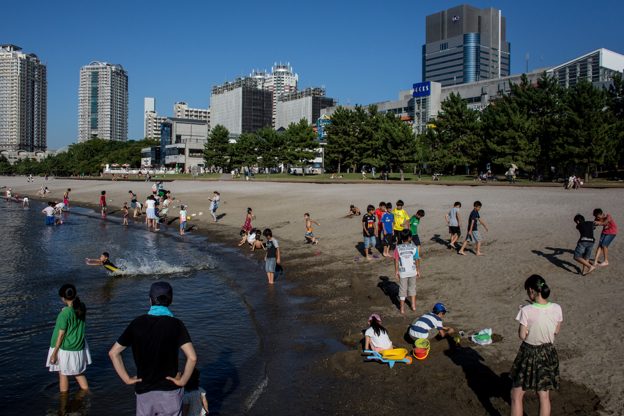 Odaiba Beach in Tokyo has been visited by Paris delegates ©Getty Images