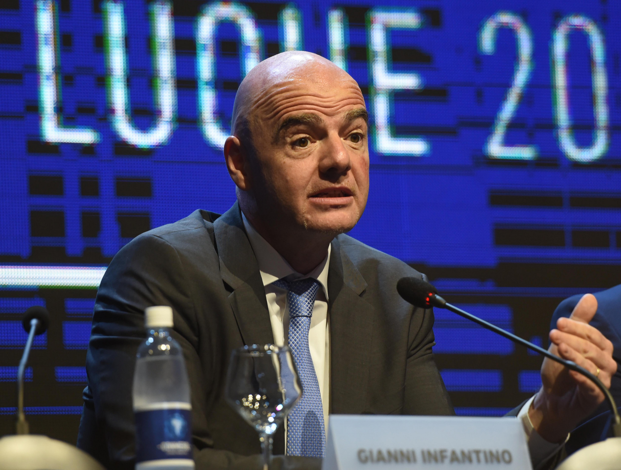 FIFA President Gianni Infantino, pictured, has declined to intervene in Paolo Guerrero's anti-doping case ©Getty Images