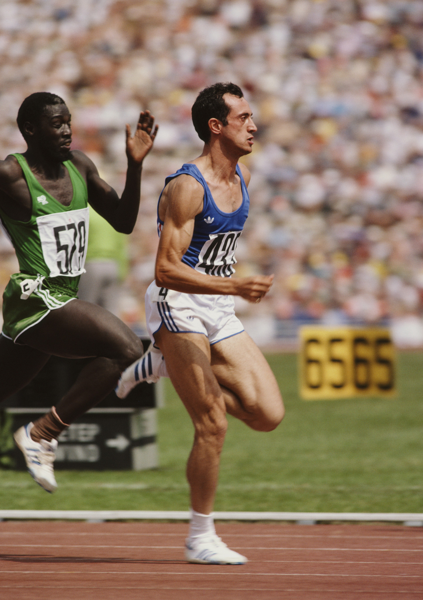 Italy's Pietro Mennea running at the 1980 Moscow Olympics, where he won gold over 200m ©Getty Images