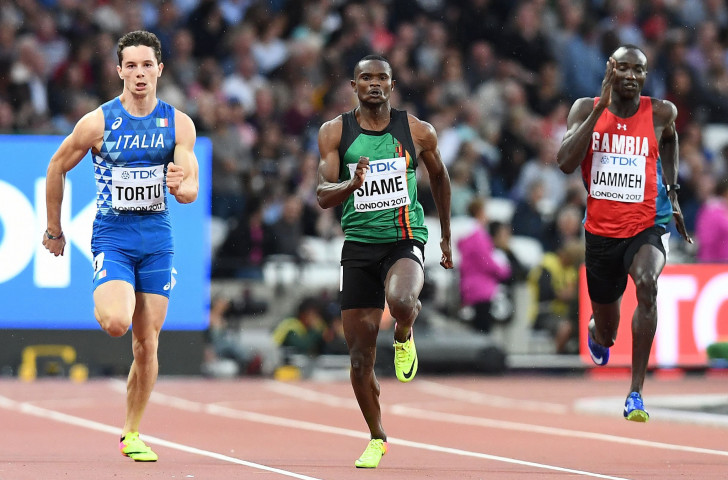 Nineteen-year-old Filippo Tortu, pictured left at last year's IAAF World Championships in London, has moved to within 0.02 seconds of Pietro Mennea's 1979 Italian 100m record - and there is plenty more to come ©Getty Images  ,
