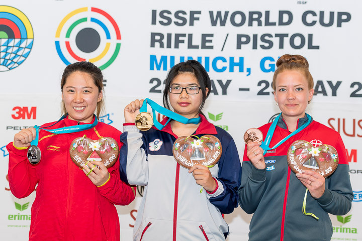 Lin Yiung-Shin won her first gold medal at World Cup level ©ISSF