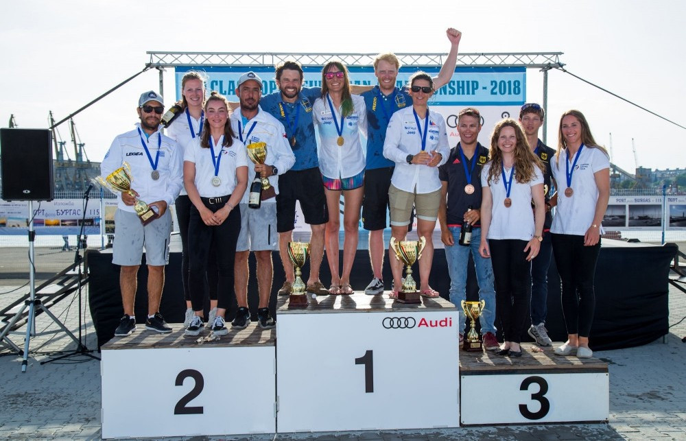 Slovenians join Swedes as 470 European champions