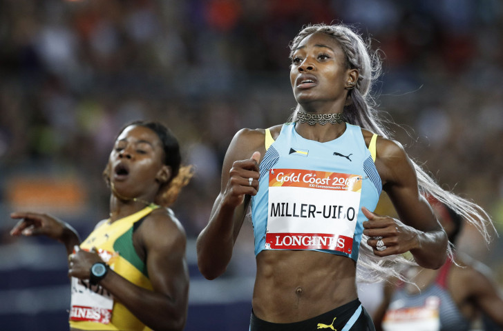 Olympic 400m champion Shaunae Miller-Uibo, pictured winning the Commonwealth 200m title last month, will make her season's debut over one lap in the two-day IAAF Diamond League meeting that gets underway in Eugene, Oregon tomorrow evening ©Getty Images