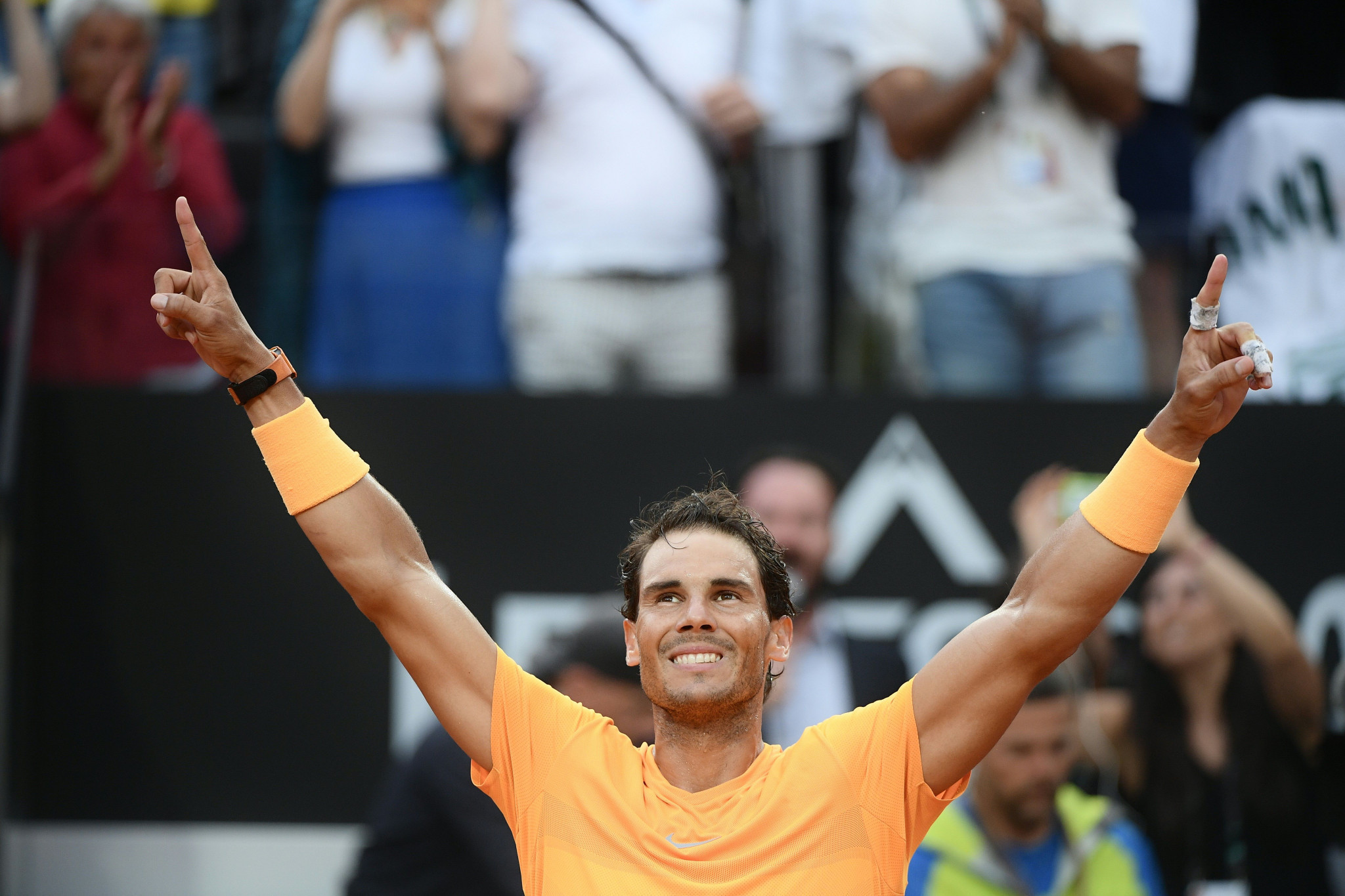 Rafael Nadal is one of many tennis stars to donate items to the Stars Against Hunger campaign ©Getty Images