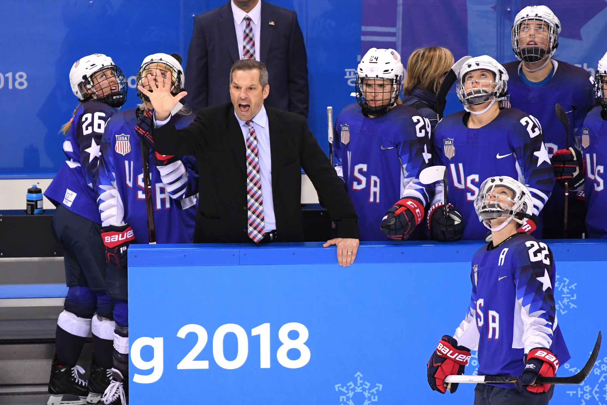 Robb Stauber guided the United States' women's ice hockey team to the Olympic gold medal at Pyeongchang 2018 ©Getty Images
