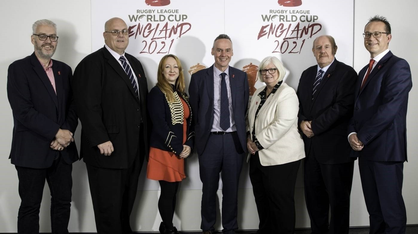 Brian Barwick has replaced Nigel Wood as the chairman of the 2021 Rugby League World Cup Board ©England 2021