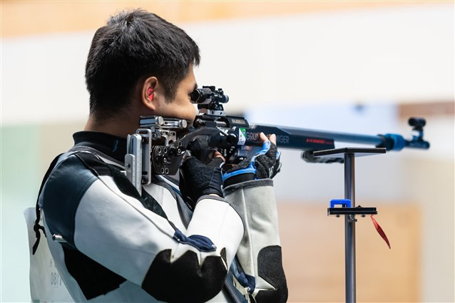 China's Yang Haoran set a world record on his way to winning the men's 50 metres rifle three positions event at the ISSF World Cup in Munich ©ISSF