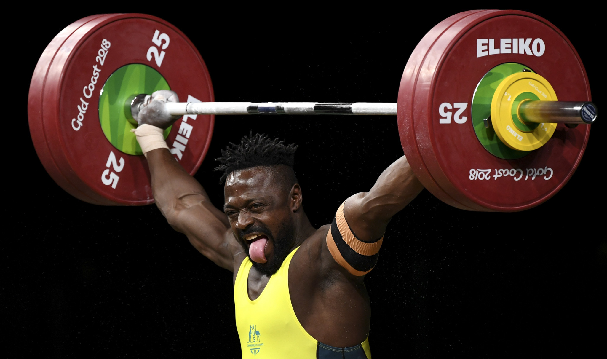 Francois Etoundi finished third in the men's 77kg event at Gold Coast 2018 ©Getty Images