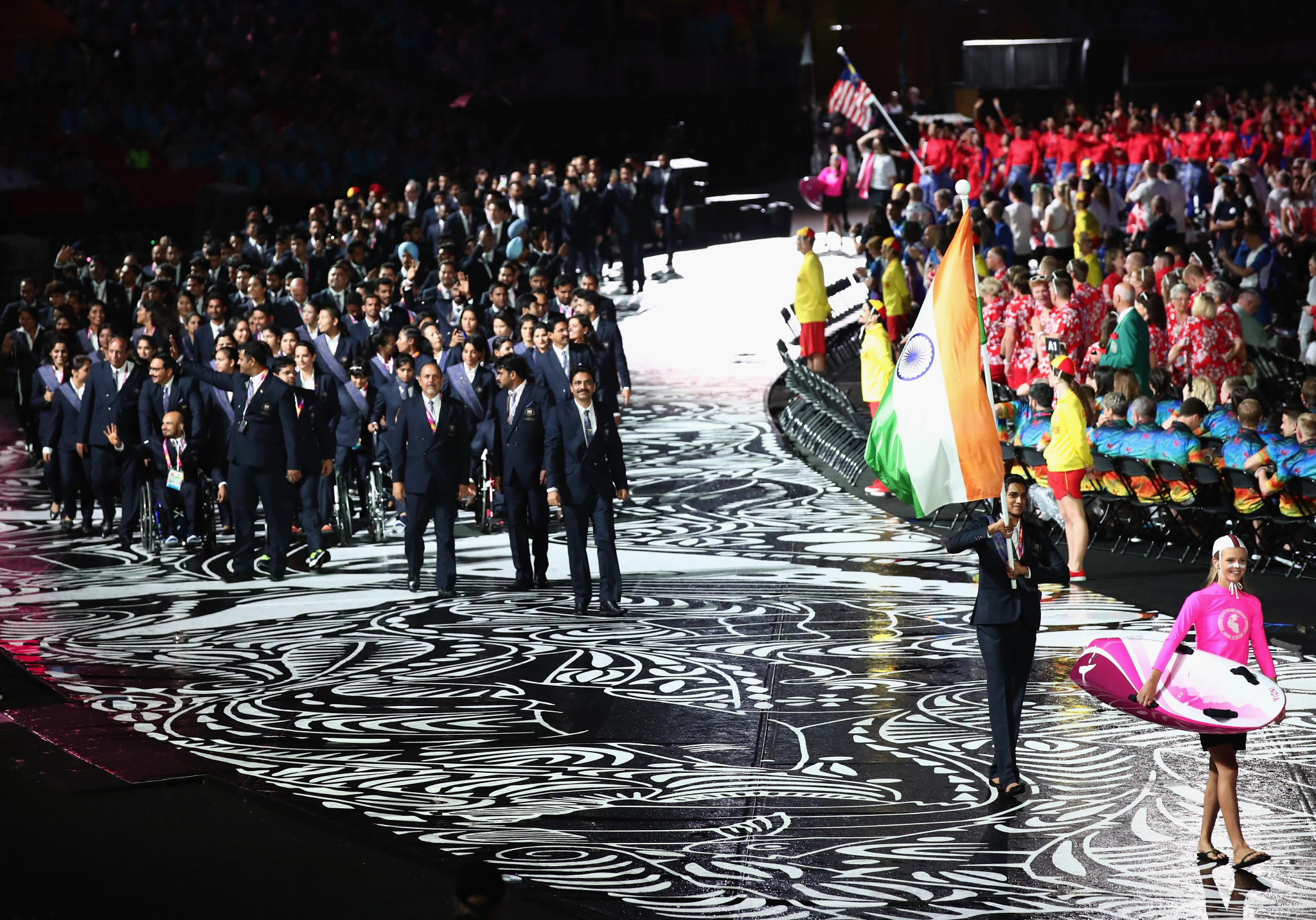 The Indian Olympic Association opted to give their competitors a unified dress code for the Opening Ceremony of the Gold Coast 2018 Commonwealth Games ©Getty Images