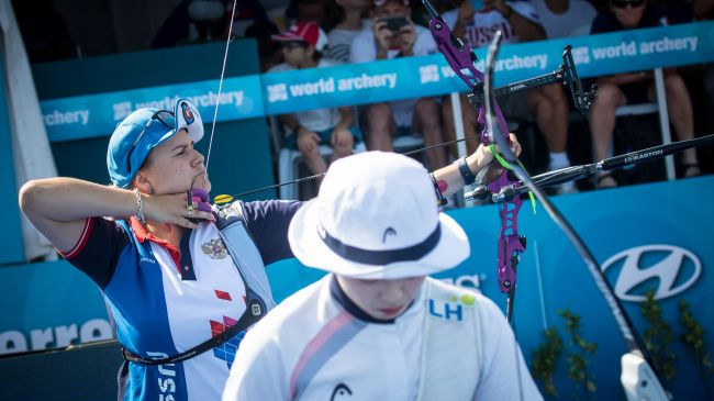 Perova beats Chang to avoid complete South Korean domination at Archery World Cup
