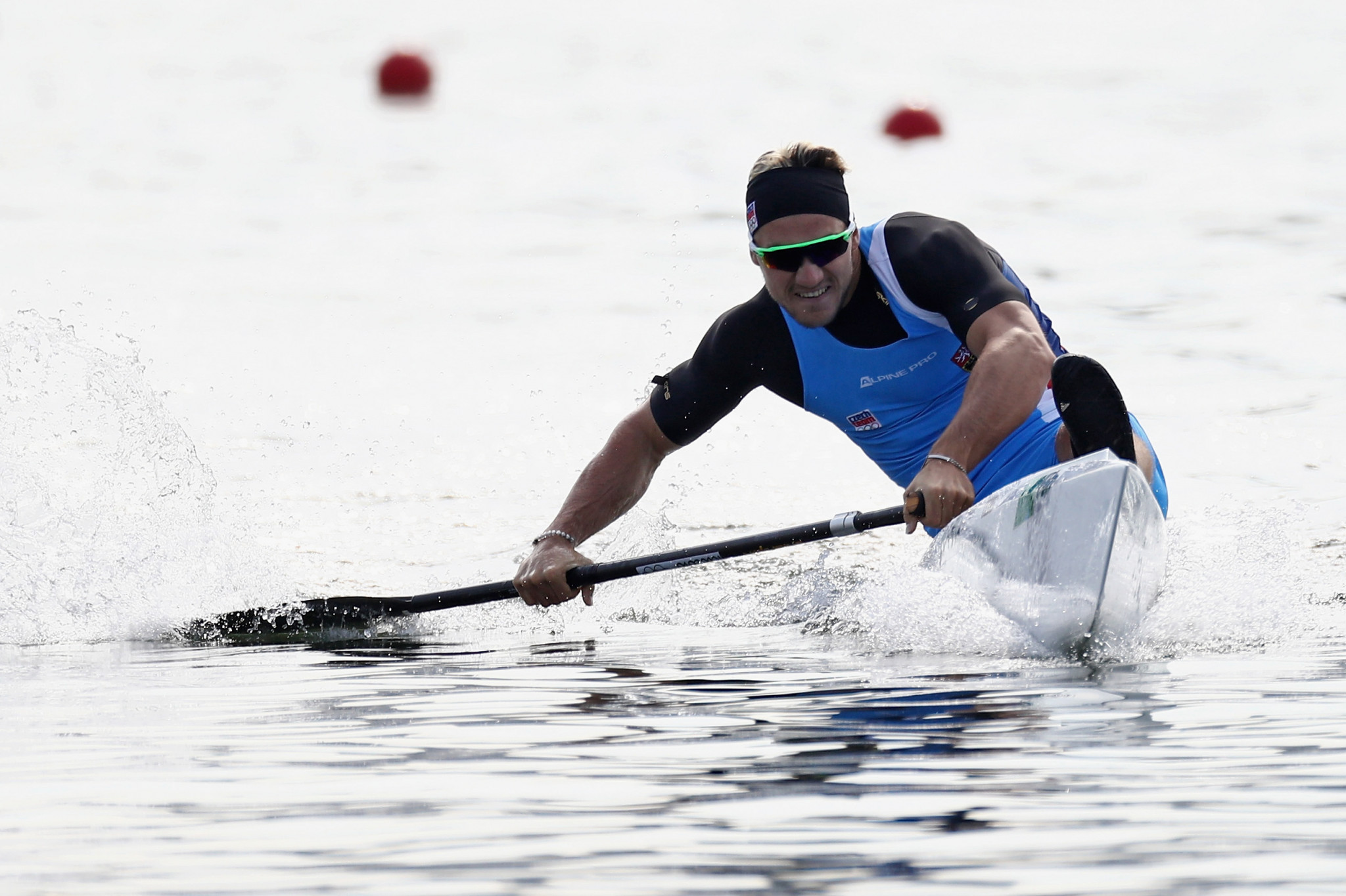 Martin Fuksa won a high quality C1 1,000m dual today at the ICF Canoe Sprint World Cup ©Getty Images