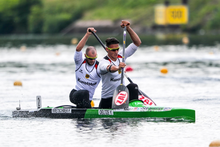 Yul Oeltze and Peter Kretschmer also won today on home water ©Getty Images
