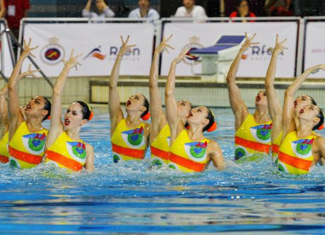 Action has continued at the FINA Artistic Swimming World Series leg in Madrid ©FINA