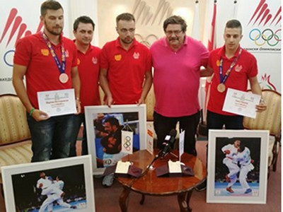 Macedonian Olympic Committee hold ceremony to celebrate Baku 2015 medallists