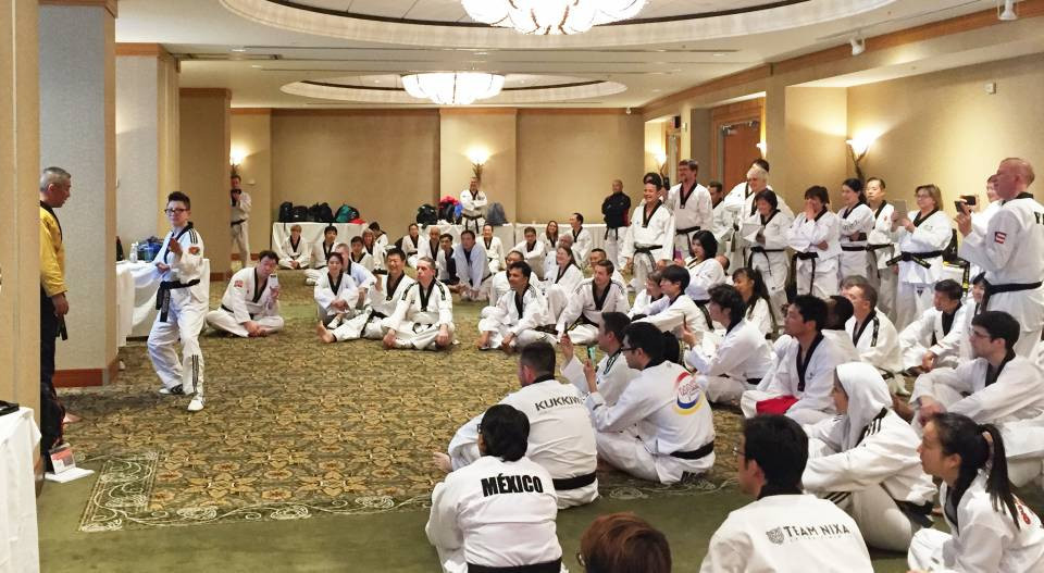 Physical training was part of the event for the first time ©Taekwondo Canada