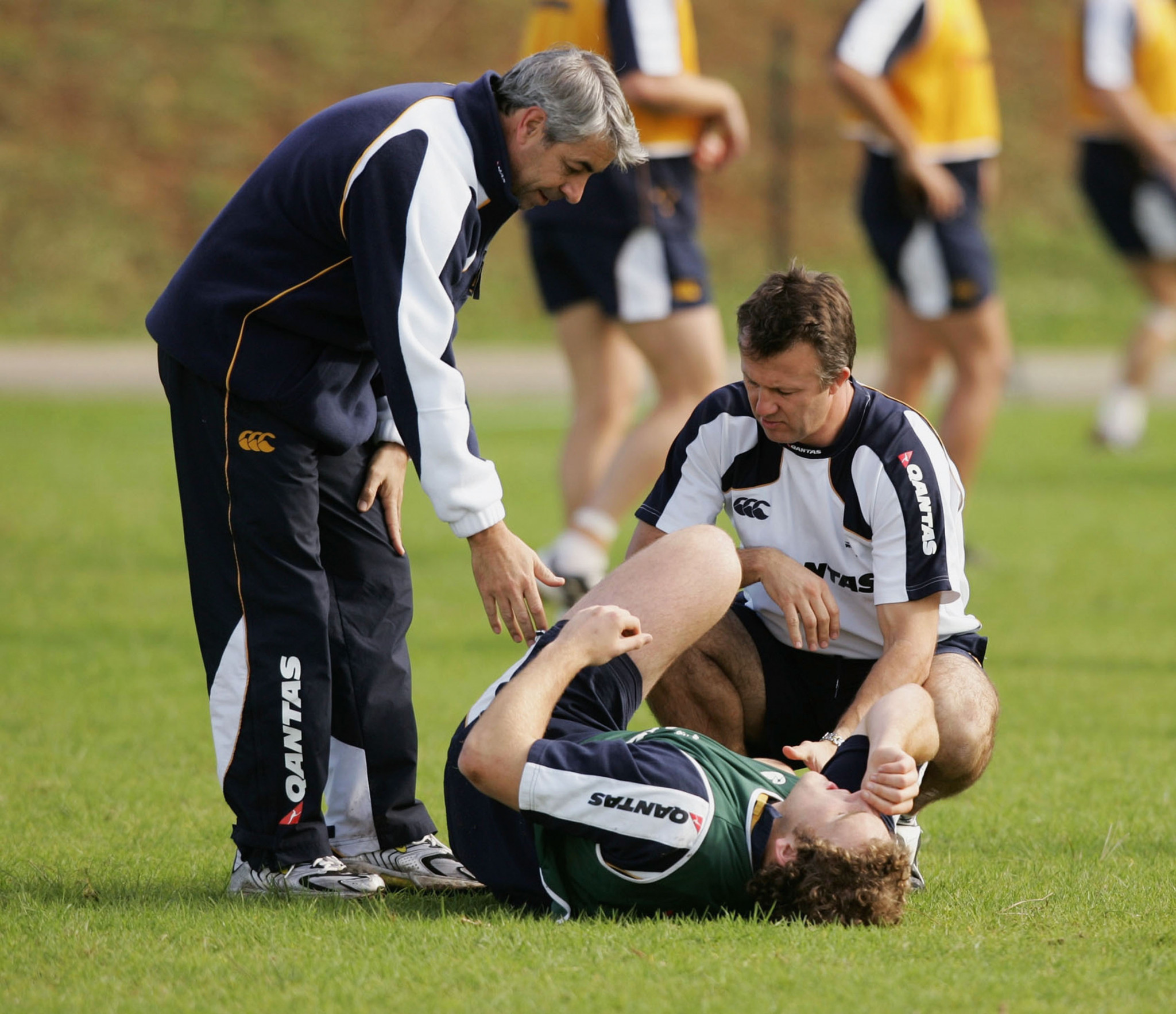 World Rugby chief medical officer Martin Raftery, left, has justified the new rules ©Getty Images