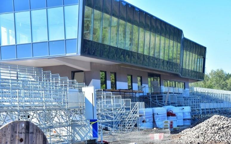 The Winter Universiade biathlon venue is being renovated ©Krasnoyarsk 2019