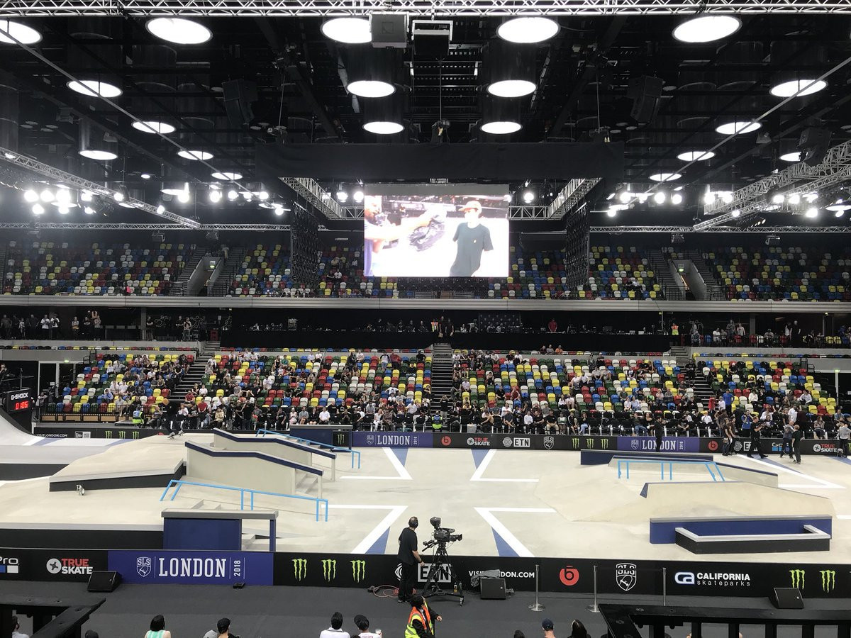 The Copper Box in London offered a taster of skateboarding at Tokyo 2020 ©ITG