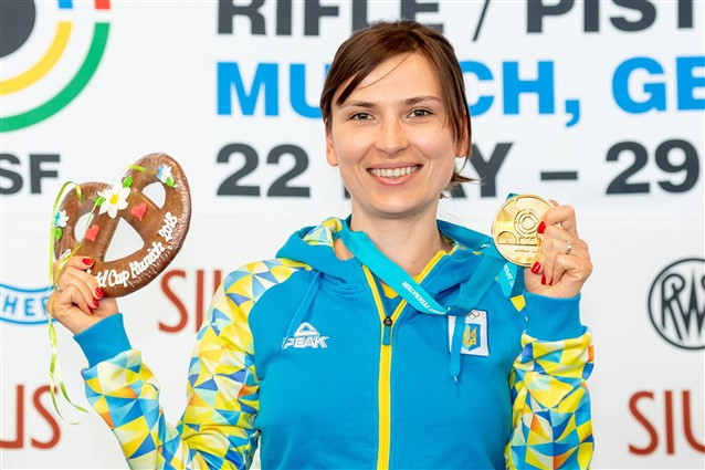 Ukraine's Kostevych wins air pistol gold to claim second medal of ISSF World Cup in Munich