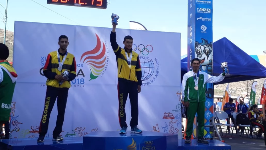 Colombia's Rodrigo Contreras Pinzon won the men's individual time trial on the first day of medal action at the 2018 South American Games in Cochabamba ©Cochabamba 2018