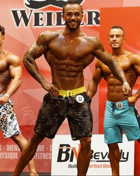 Men's physique was one of eight categories in which medals were awarded ©IFBB/Instagram
