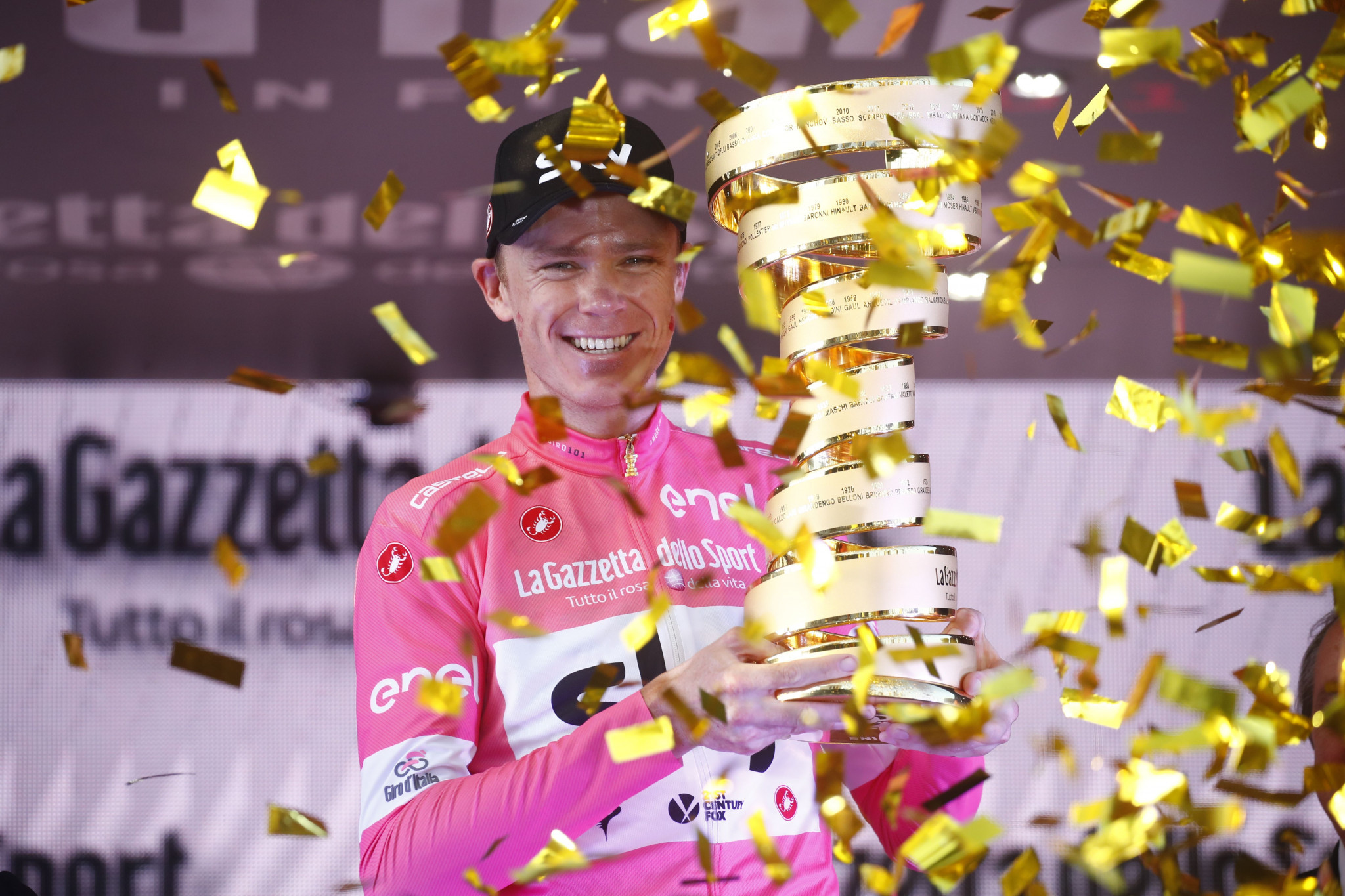 Chris Froome has dismissed criticism of the validity of his Giro d'Italia win ©Getty Images