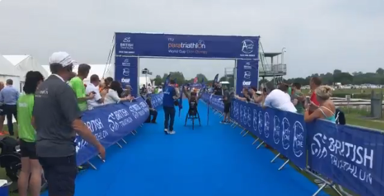 Townsend and Jones-Hall claim home gold at ITU Para-triathlon World Cup in Eton Dorney