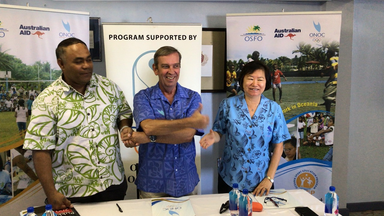 The deal will see Olympic education courses run in Fiji ©FASANOC