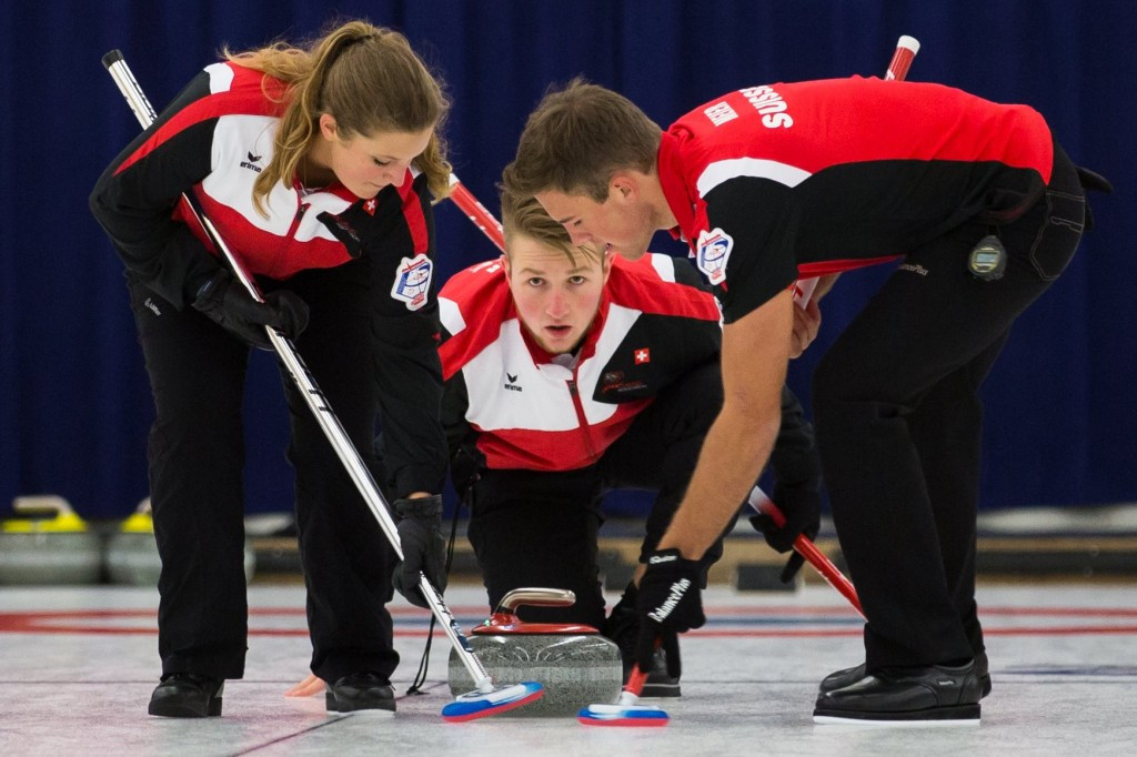 Hosts Switzerland claim two wins on opening day of inaugural World Mixed Curling Championships