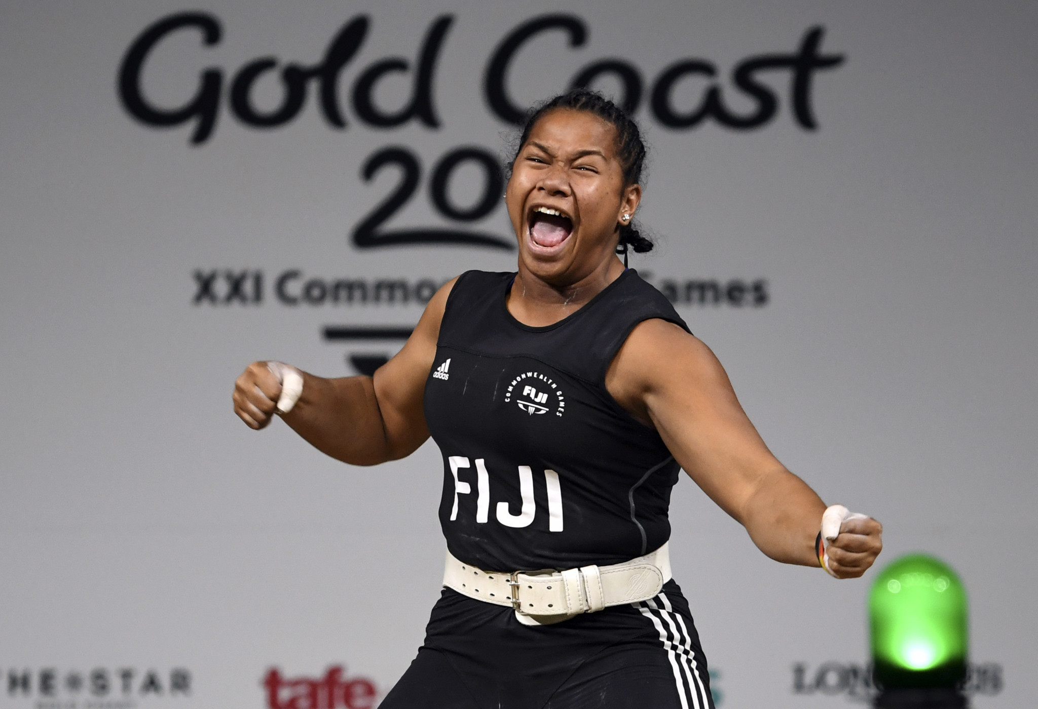 Eileen Cikamatana is among Fijian weightlifters to have protested the coaching change ©Getty Images