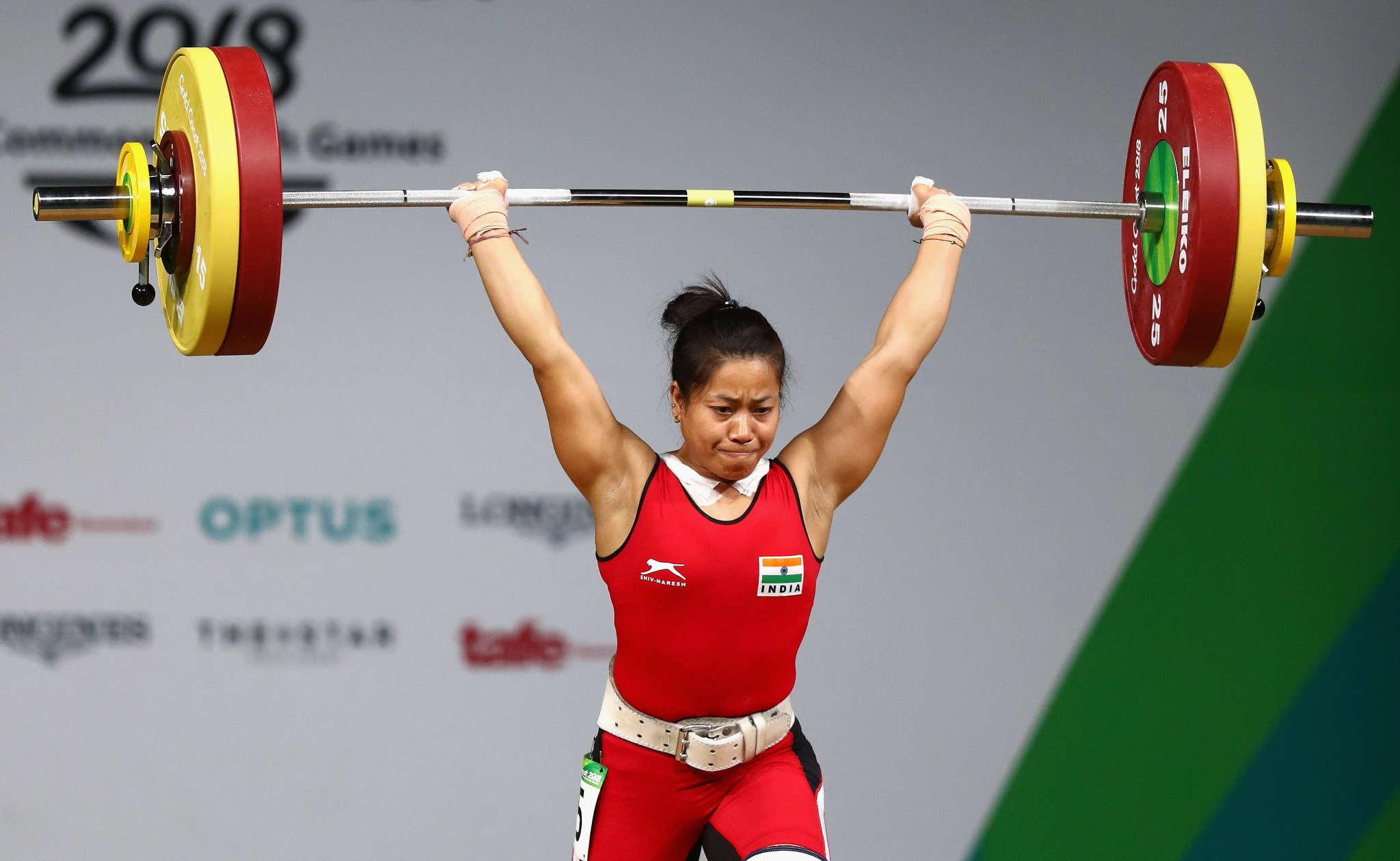 Commonwealth champion Sanjita Khumukcham has failed a drugs test ©Getty Images