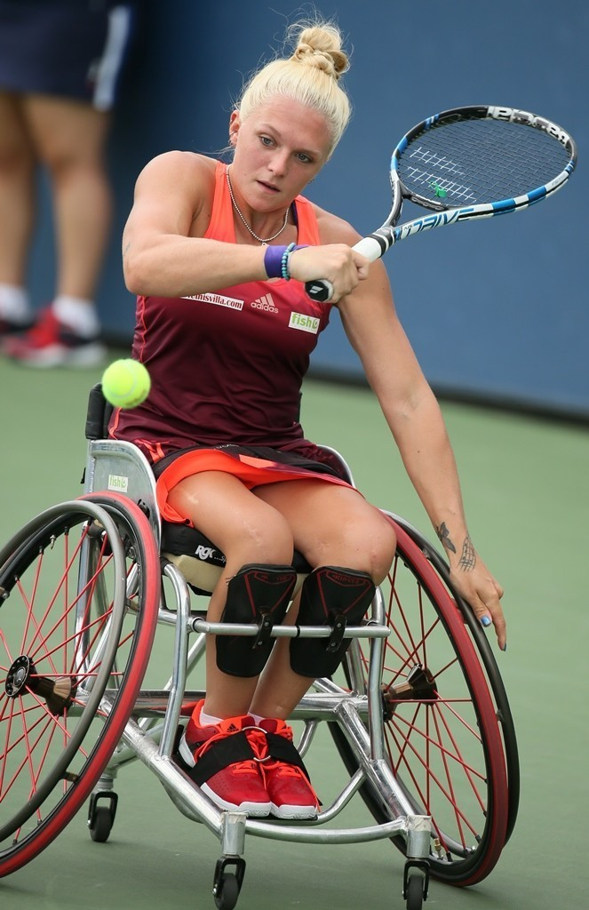 Great Britain's Jordanne Whiley will face her doubles partner Yui Kamiji of Japan in the singles final ©Tennis Foundation