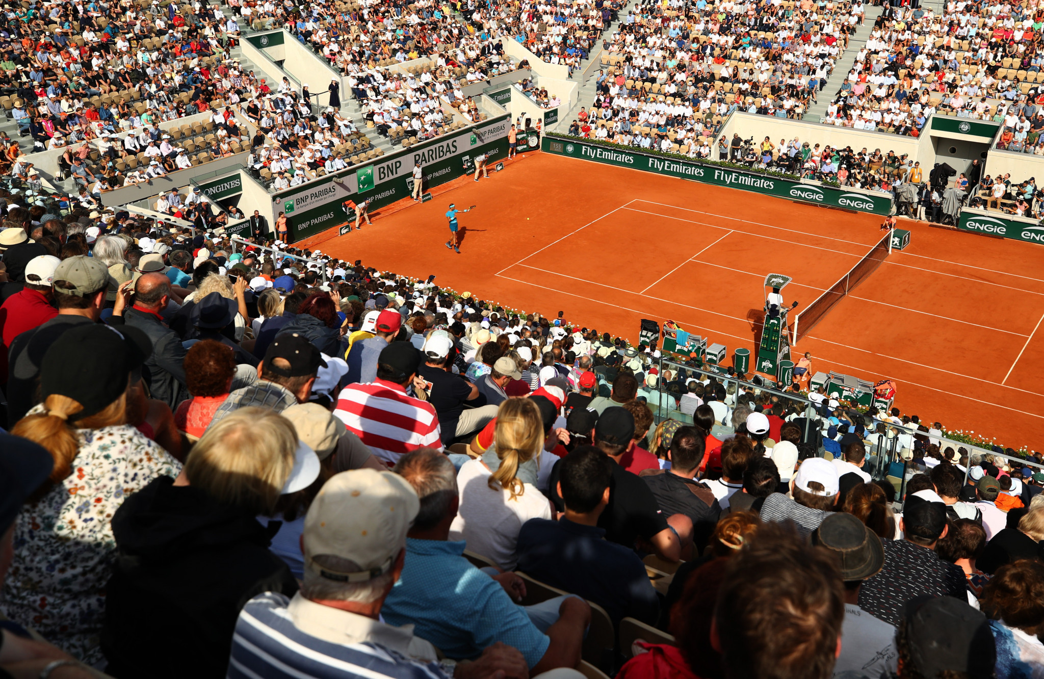 The 2020 French Open will require spectators to leave seats between them as part of safety measures ©Getty Images
