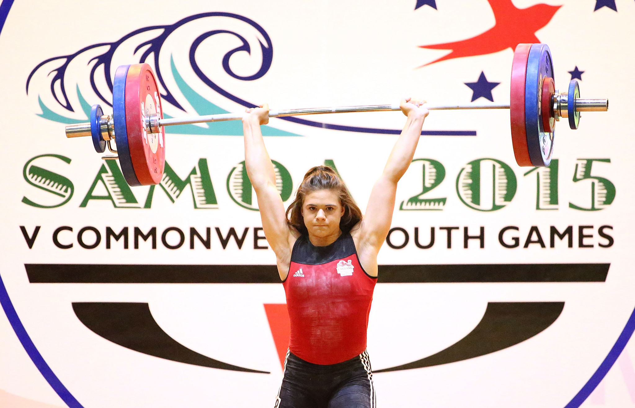 Rebekah Tiler lifts at the Samoa 2015 Commonwealth Youth Games ©Getty Images