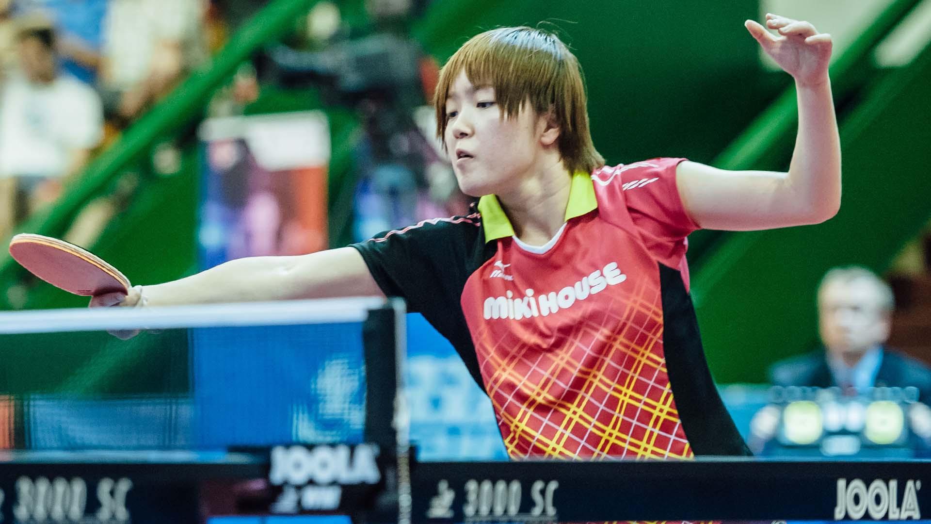 Shibata beats top seed Zhu on way to semi-finals at ITTF China Open