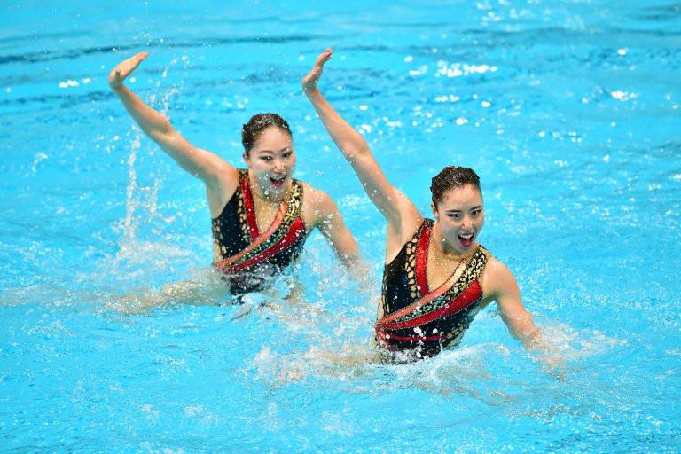 Japan's Yukiko Inui and Megumu Yoshida won the duet technical event ©FINA/Anna Davydova