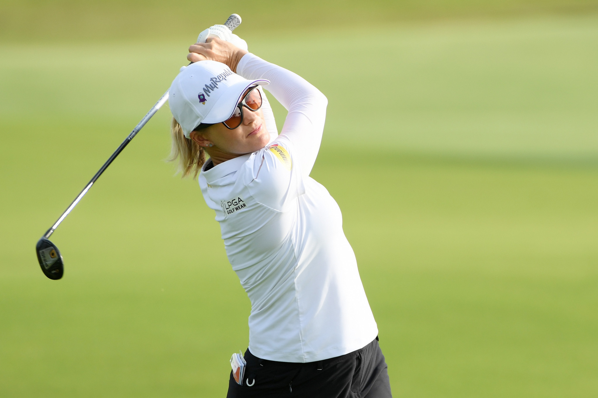 Smith leads after storm affects second round at US Women's Open