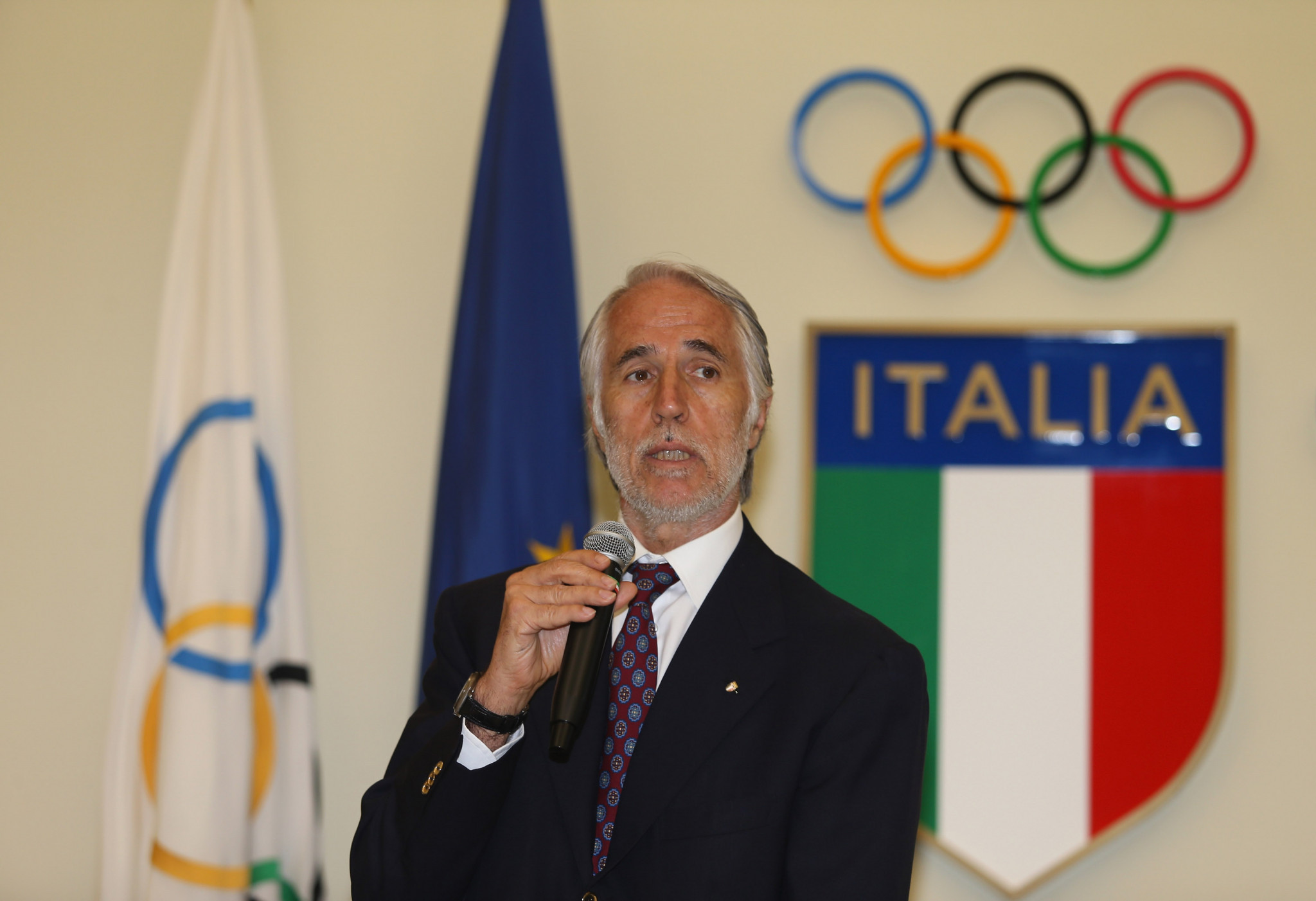 Giovanni Malagò had previously said an Italian Government was needed to help the 2026 Winter Olympic bid ©Getty Images
