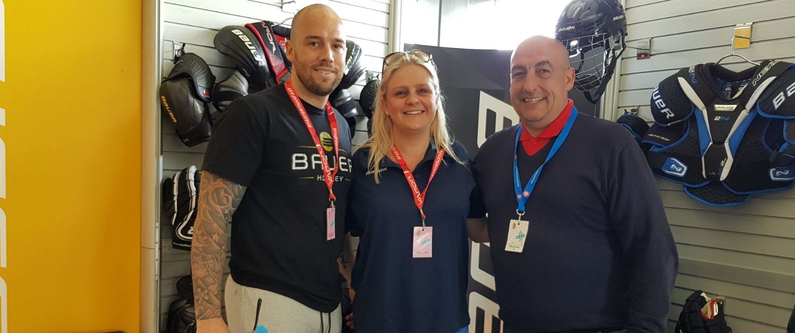 Bauer and Ice Hockey UK figures pictured at the unveiling ©Ice Hockey UK