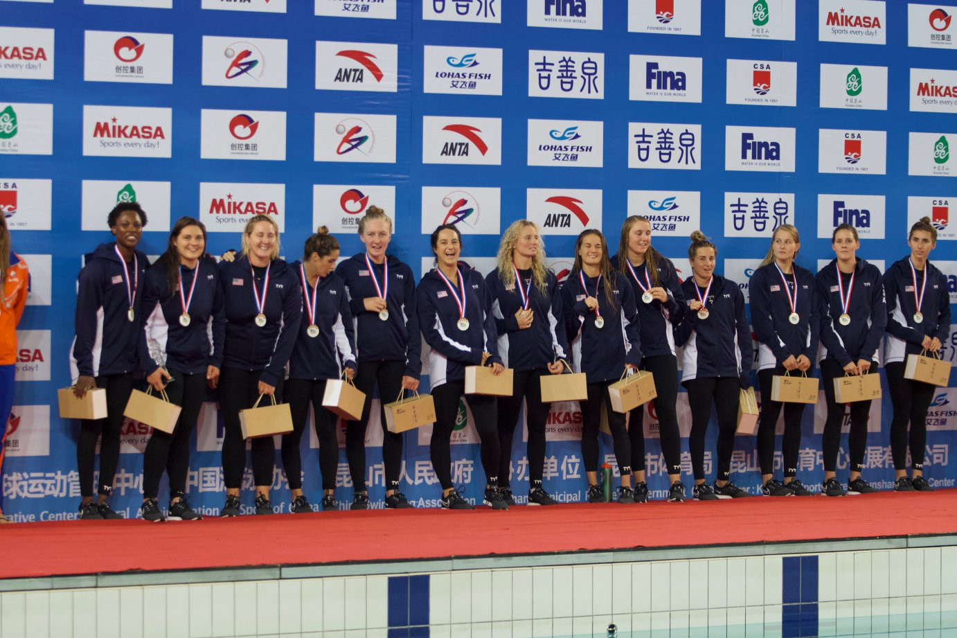 The US claimed a fifth successive win ©FINA