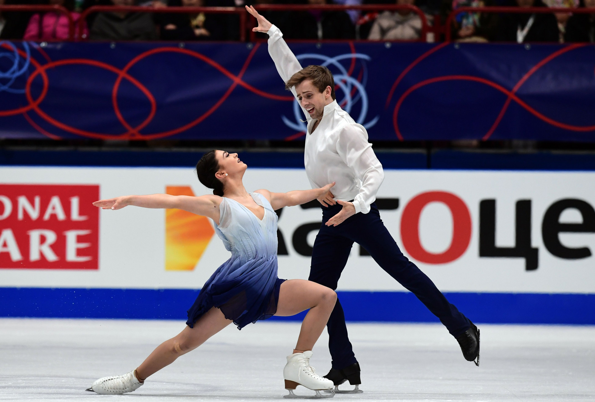 Kaitlin Hawayek and Jean-Luc Baker of United States won the Four Continents Ice Dancing title  this year in Taipei ©Getty Images