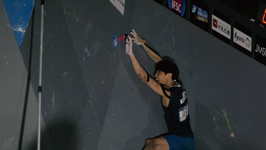 Topishko and Chon qualify strongest for men's semi-finals at IFSC Bouldering World Cup
