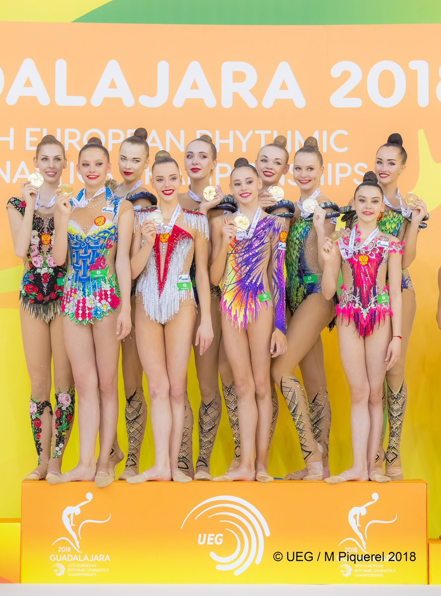 Russia claim double gold at European Rhythmic Gymnastics Championships