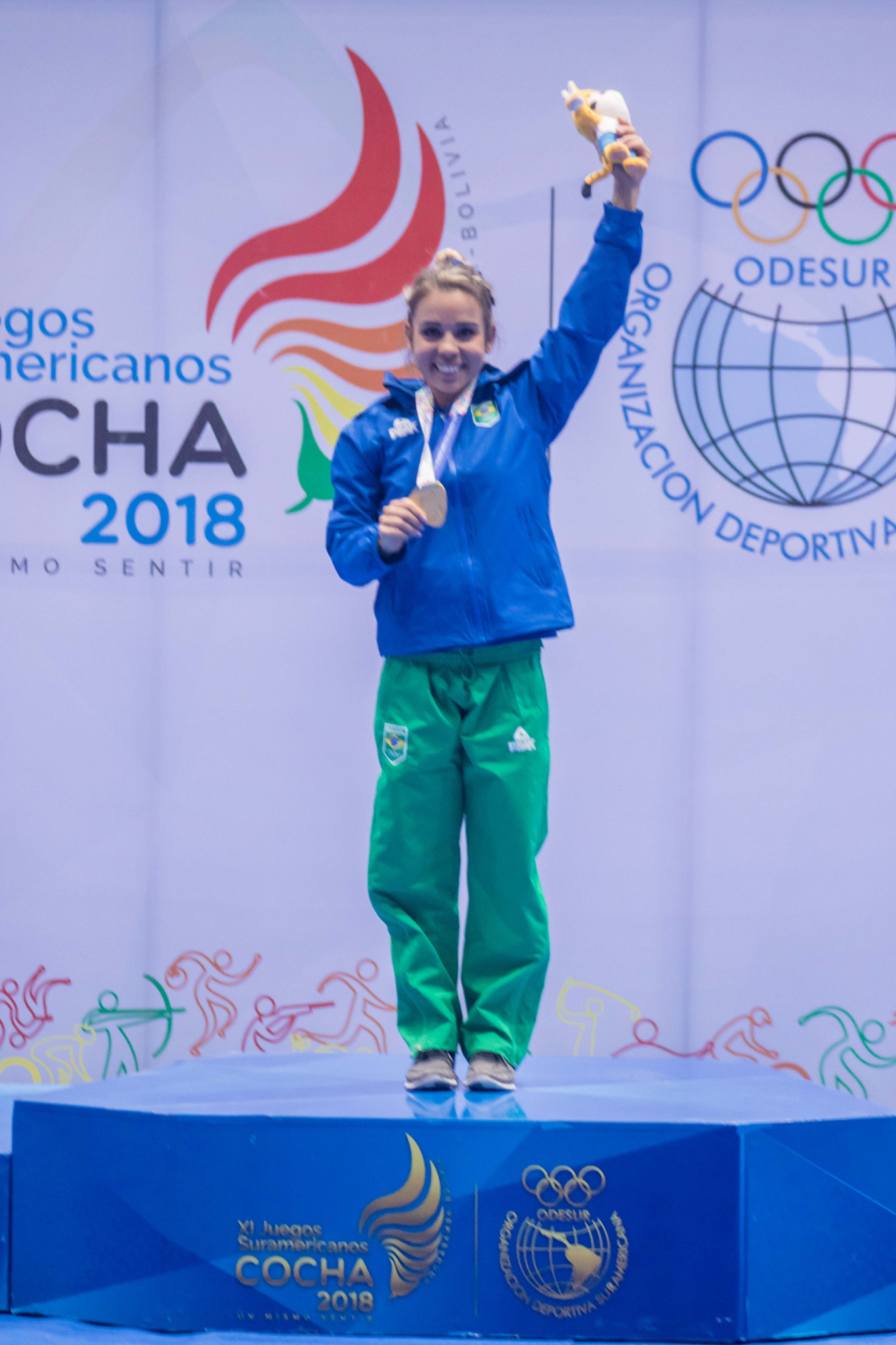 Camilla Lopes Gomes helped Brazil retain their spot at the top of the medals table ©South American Games 2018