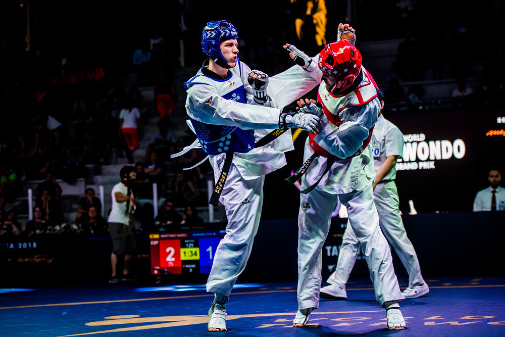 Russia's Maksim Khramtcov beat Spain's Raul Martinez Garcia in the men's under 80kg final ©World Taekwondo