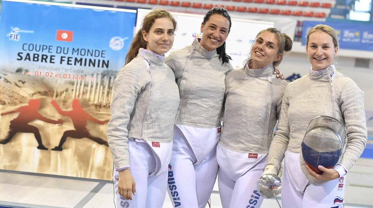 Russia win team gold as FIE Sabre World Cup in Tunis concludes