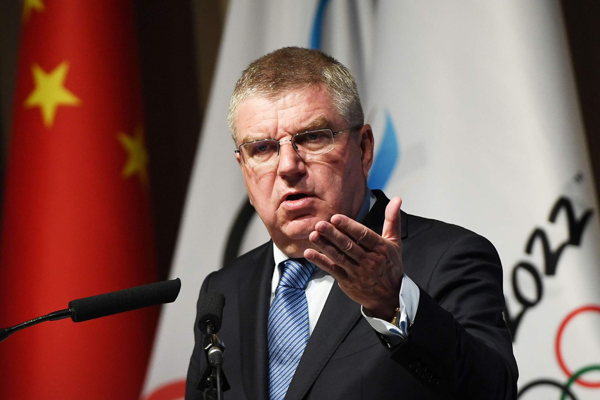IOC President Thomas Bach is in Beijing for the official de-brief of the Pyeongchang 2018 Winter Olympic and Paralympic Games ©Getty Images