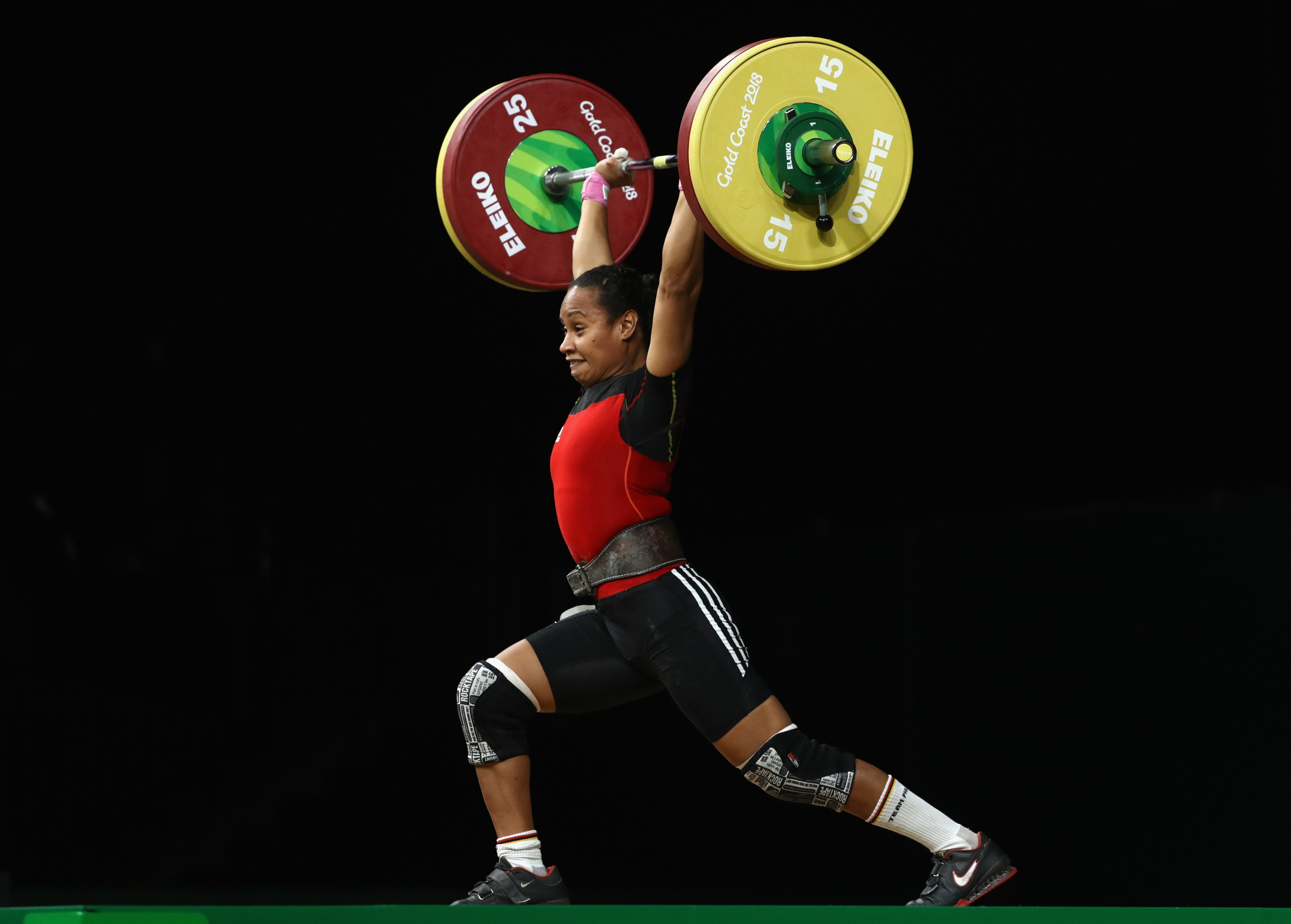 Weightlifter Dika Toua claimed the best female athlete of the year award ©Getty Images